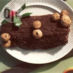 Tronchetto di natale al cioccolato e noci