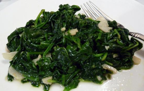 Spinaci all'aglio e olio