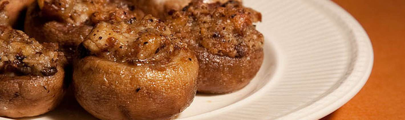 Ricetta funghi al forno ripieni di carne