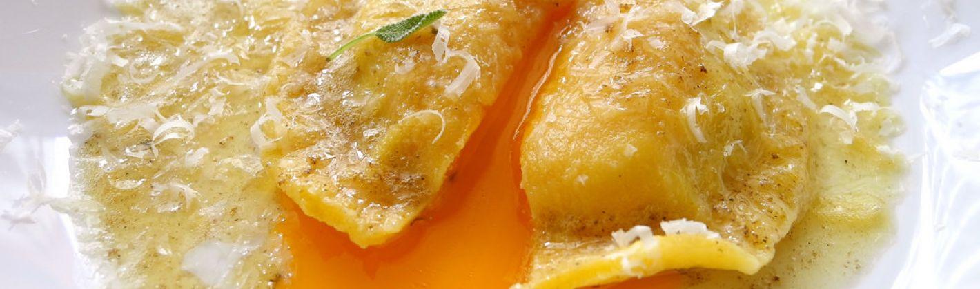 Ricetta ravioli di magro con crema all'arancia