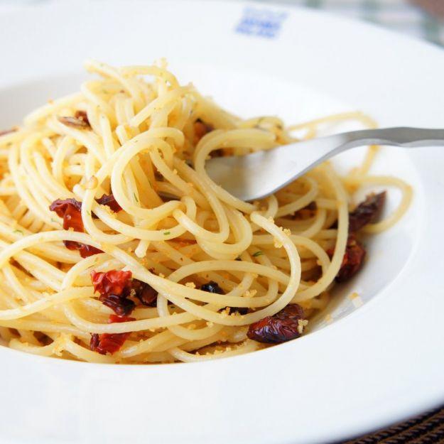 Ricetta spaghetti ai pomodori secchi