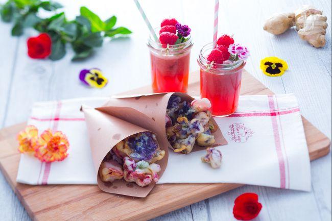Ricetta aperitivo di fiori e frutta