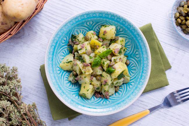 Ricetta insalata di patate al verde