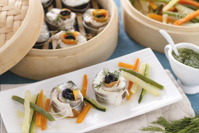 Ricetta branzino al vapore con verdure
