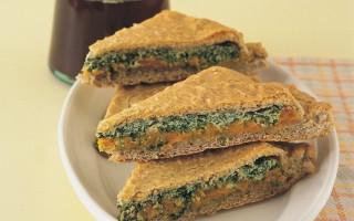 Ricetta focaccia ripiena di zucca, ricotta e spinaci