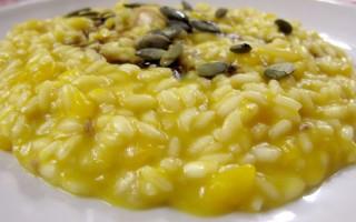 Ricetta risotto con polpa e semi di zucca