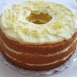 Torta chiffon con crema al limone