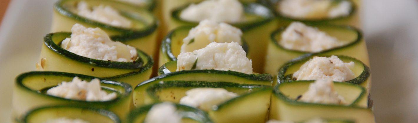 Ricetta involtini di zucchine al gorgonzola
