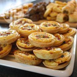 Miniquiche alla pancetta