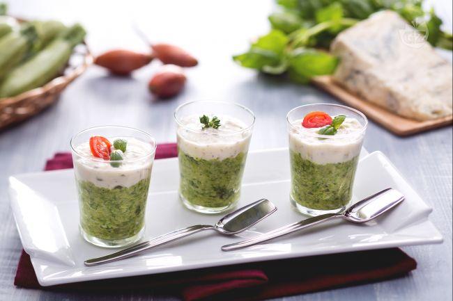 Ricetta caviale di zucchine con crema di gorgonzola