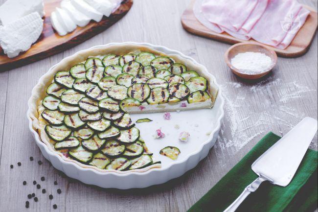 Ricetta crostata salata con ricotta e zucchine