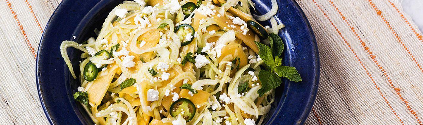 Ricetta insalata fresca con melone e finocchio