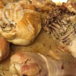 Pollo al forno al rosmarino e vino bianco