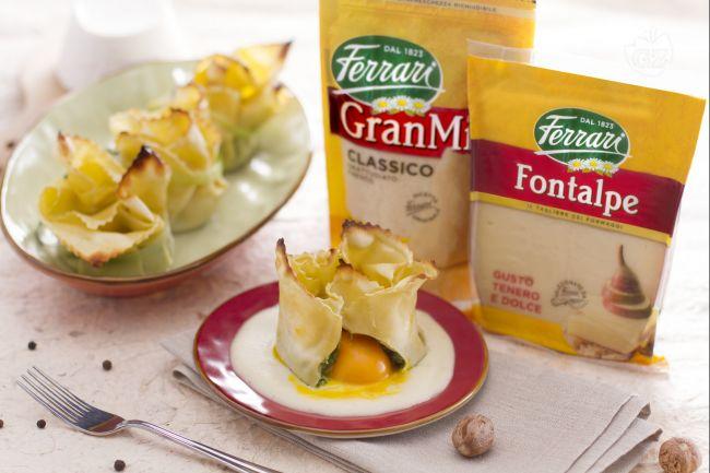 Ricetta fagottino di pasta fresca con tuorlo fondente