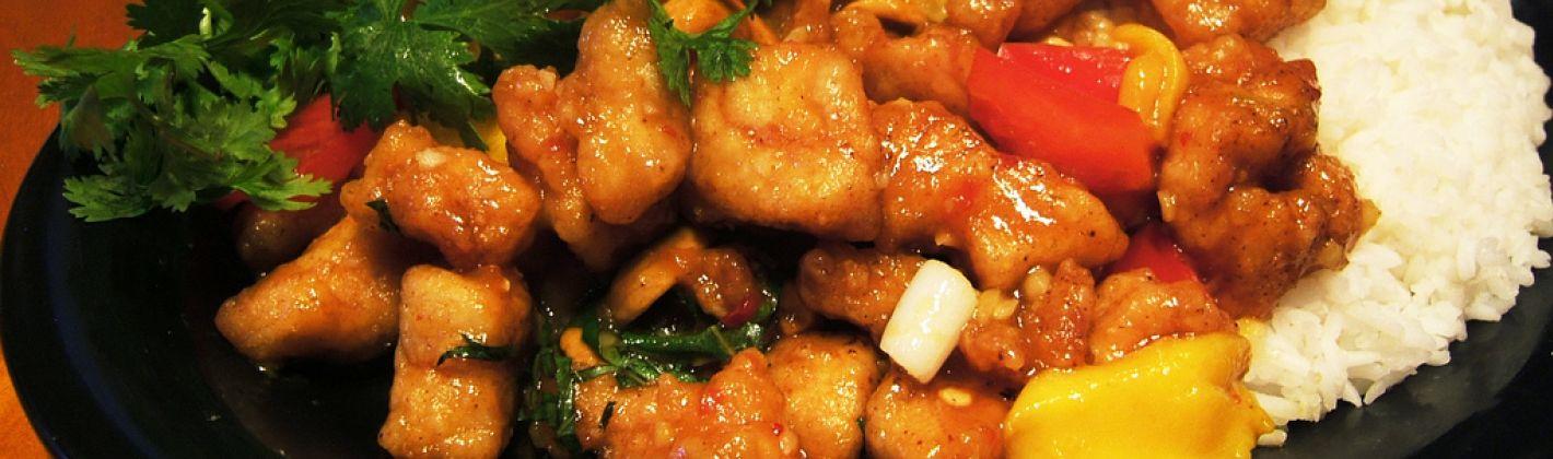 Ricetta riceta pollo grigliato con salsa di rose e mango