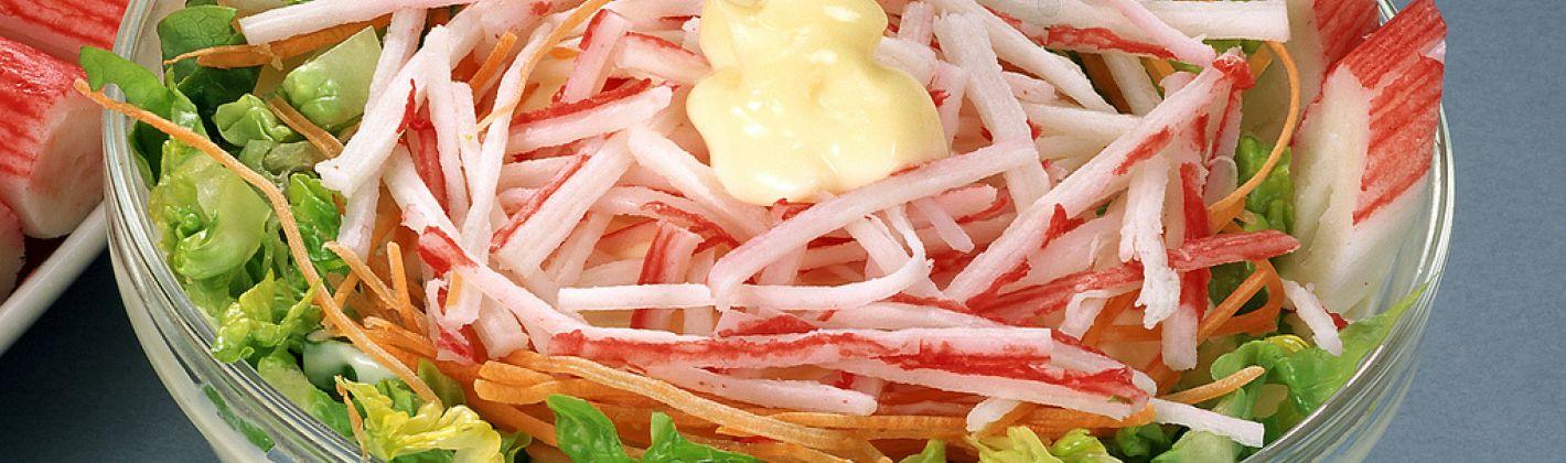 Ricetta insalata di surimi e verdure