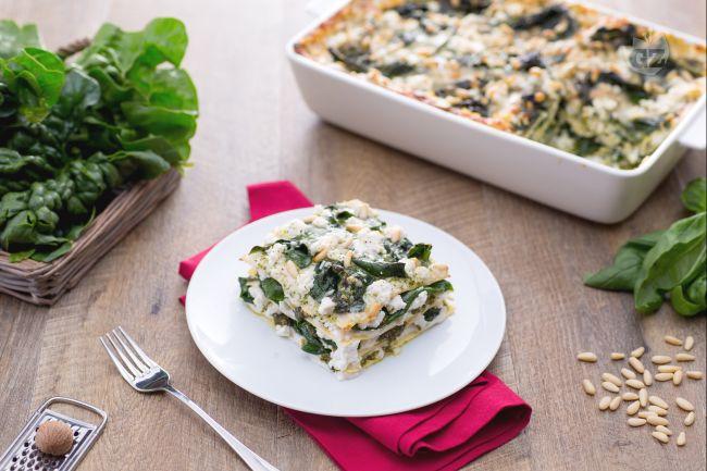 Ricetta lasagne alla crema di pesto, ricotta e spinaci