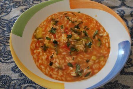Ricetta minestra di riso, zucchine e patate