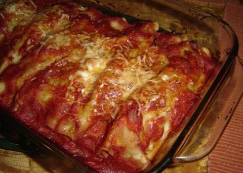 Cannelloni con melanzane e ricotta