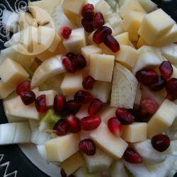Insalata di finocchi, mele e melograno