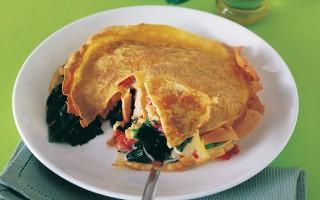 Ricetta doppia crêpe farcita al salmone e spinaci