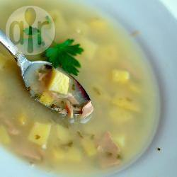 Zuppa di salmone e sedano