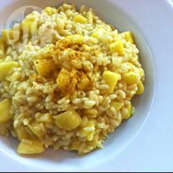 Risotto pancetta, ananas e curry