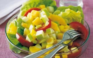 Ricetta insalata di lattuga e frutta mista  stati uniti