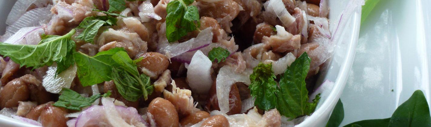 Ricetta insalata ai tre legumi
