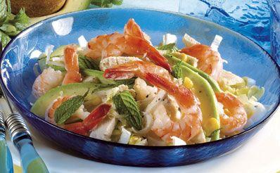 Ricetta insalata di avocado e indivia