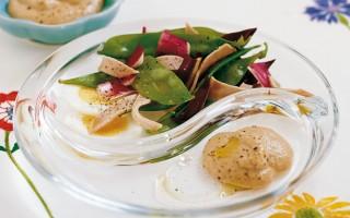 Ricetta insalata di radicchio, tacchino e taccole