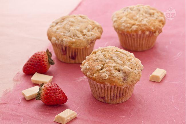 Ricetta muffin al cioccolato bianco e fragole