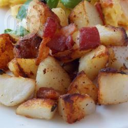 Patate fritte con pancetta