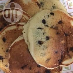 Pancakes con kefir e gocce di cioccolato