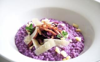 Ricetta risotto viola