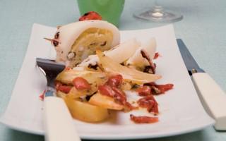 Ricetta tegame di calamari e patate al forno