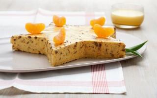 Ricetta bavarese di mandarino, panpepato e zabaione