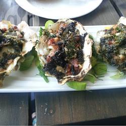 Ostriche gratinate con pancetta e cavolo nero