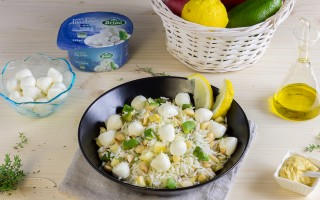 Ricetta insalata di riso basmati con avocado e mozzarelline ...