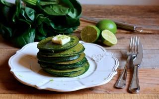Ricetta pancake verdi al burro di lime