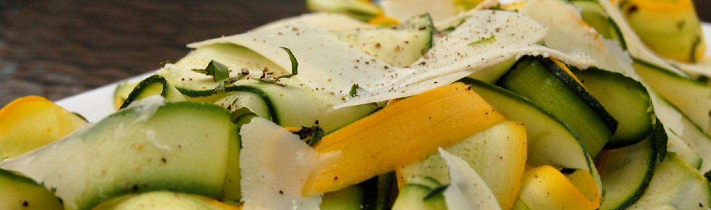 Ricetta insalata di zucchine in carpaccio
