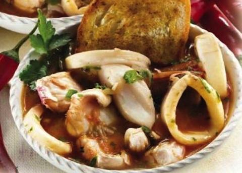 Zuppetta di pesce piccante