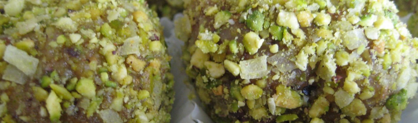 Ricetta ricette palline di salmone e pistacchio