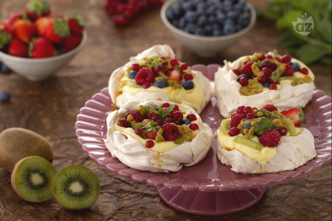 Ricetta mini pavlove con crema al limone