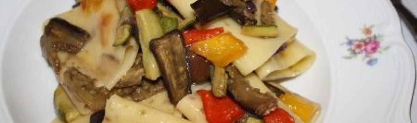 Ricetta paccheri con le verdure