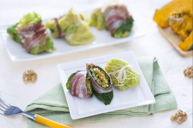 Ricetta involtini di verza ripieni di verdura
