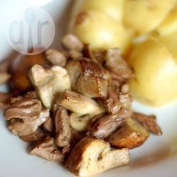 Cuori di pollo ai funghi