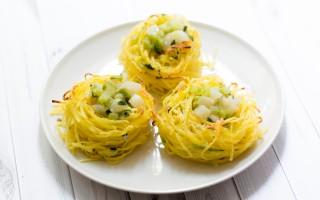 Ricetta nidi di tagliolini con crema di gorgonzola e pere