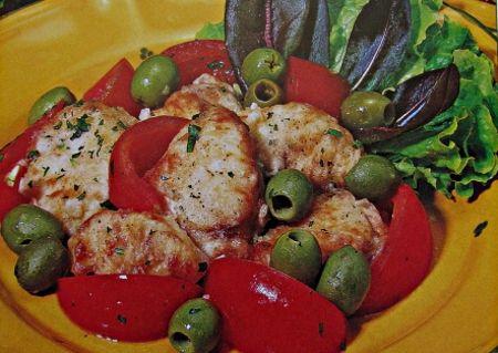 Ricetta mormora alle olive in padella
