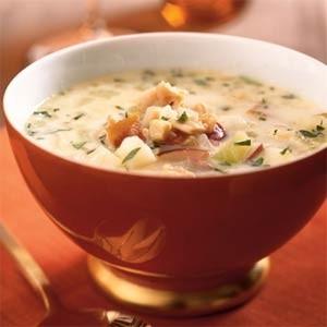 Ricetta clam chowder (zuppa bianca di frutti di mare)